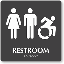 bathroom sign.  Sign Zoom Price Buy To Bathroom Sign