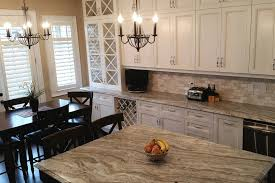 fantasy brown granite countertop in a traditional kitchen with a double ogee edge profile