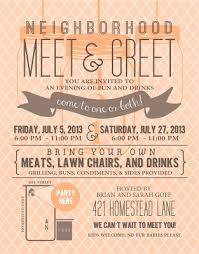 Meet And Greet Invitations Samples Invitation Example Neighborhood Parties Party Party Invitations