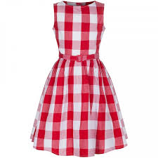 Lindy Bop Size Chart Lindy Bop Mini Audrey Red Gingham Size 3 4 Years