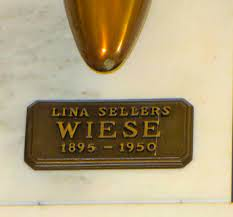 Lina Sellers Wiese (1895-1950) - Find A Grave Memorial