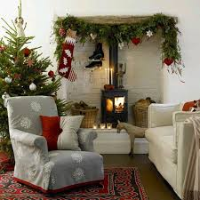 Snowflakes On Living Room Furniture Covers, Traditional Christmas Decor
