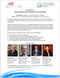 announcing roundtable human rights and the business of social media city university of hong kong 25 june 2018