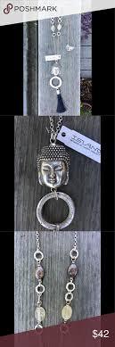 Island Designs By Harry Haslett Turkish Silver Buddha Necklace Beautiful Long Buddha