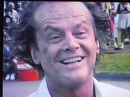 jack nicholson wild and crazy eyebrows and hair says to fans  jack nicholson wild and crazy eyebrows and hair says to fans sorry i can t stop and talk more