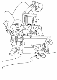 Small Picture Coloring Pages For Girls Bob The Builder Coloring Page