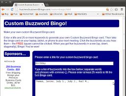buzzword bingo generator help business buzzword bingo