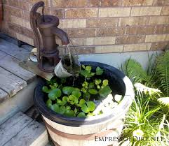 diy patio pond: beautiful backyard pond ideas for all budgets whiskey barrel pond with fountain