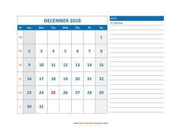 December Calendar Blank 2018 December Calendar Blank Vertical Template Free Calendar