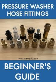 pressure washer hose fittings beginner