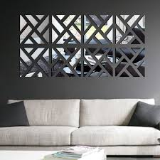 geometric removable diy 3d acrylic mirror wall decal set sticker art decals mural for home decoration 30 120cm s tomtop