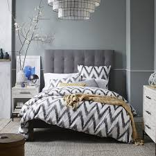 Tall Grid Tufted Headboard from West Elm. Is it too high? Otherwise I adore