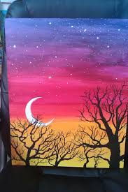 easy acrylic painting ideas trees - Google Search