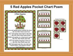 Apple Tree Pocket Chart Apple Tree Pocket Chart Poem Poems And Pocket Chart