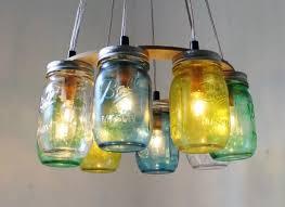 mason jar pendant light fixture diy