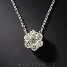 modern diamond flower pendant previous to enlarge photo