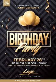 Birthday Flyers Classy Birthday Psd Flyer Template Birthday Flyer