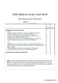 Bank Reconciliation Statement Template Opusv Co