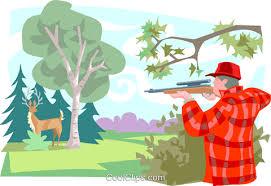 deer hunter Royalty Free Vector Clip Art illustration  -peop3337-CoolCLIPS.com