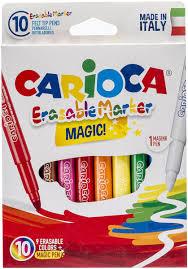 <b>Carioca</b> Набор <b>фломастеров Erasable</b> стираемые 9 цветов 10 шт ...