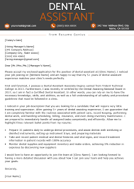 letter of recommendation for dental school example dental assistant cover letter example resume genius
