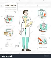 Professional Doctor Infographic Skills Resume Tools Stock Vector