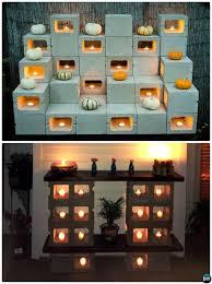 cinderblock furniture. Exellent Furniture DIY Cinder Block Candle Rack10 Concrete Furniture Projects With Cinderblock G