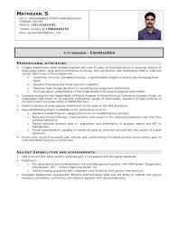 civil supervisor cv sample
