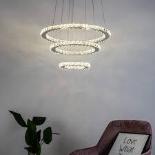 pendant light led crystal design 3