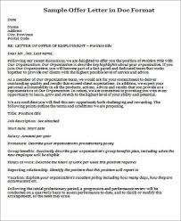 40+ Offer Letter Format Templates - Pdf, Doc | Free & Premium Templates