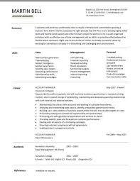 Account Manager Cv Template Sample Job Description Resume For