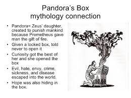 greek mythology in modern language pandora s box mythology