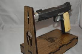 Handgun Display Stand Universal Handgun Display Stand with or without hidden drawer 96