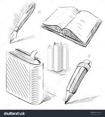 pencil drawing book books with pen and pencil office stuff set hand drawing sketch