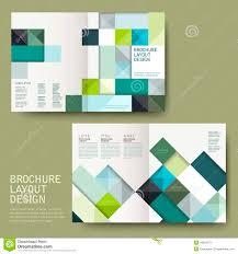 Geometric Style Half-fold Template Brochure Stock Vector - Image ...