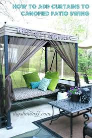 patio swing bed with canopy how to curtains patio swing show off decorating and home with patio swing bed