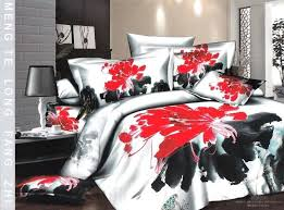 red king quilt sliver gray 4 piece bedding sets with tasteful ink red plaid king size