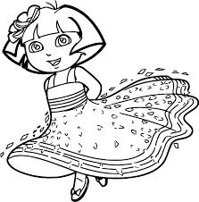 Printable Dora Coloring Pages Free Printable Dora The Explorer
