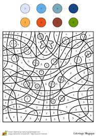 Coloriage Magique Niveau Cm1 D Un Sapin De No L