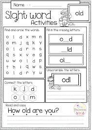 Kindergarten Sight Words Worksheets Smart Free Printable Word Dolch Pdf