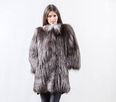 saga silver fox fur jacket