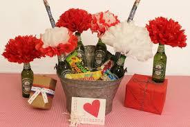 Valentine's flower arrangements & bouquets. Diy Valentine Gift Ideas For Him The Man Bouquet Petal Talk Valentine Gifts Diy Valentines Gifts Valentines Diy