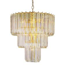 bel air lighting stewart 9 light polished brass chandelier with beveled acrylic crystal shades