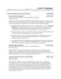 ministry resume