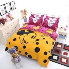 mickey mouse bedding single polka dot mickey mouse bed sheet set cartoon girl kids boy quilt mickey mouse bedding single