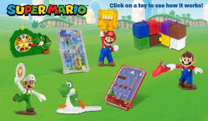 super mario has returned to mcdonald s in the united states a new wave of toys are available with happy meals as pictured above