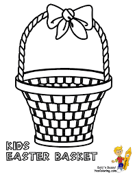 Small Picture Handsome Easter Basket Coloring Pages Free Easter Baskets
