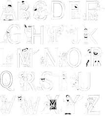 Printable Alphabet Coloring Pages And Alphabet Coloring Pages