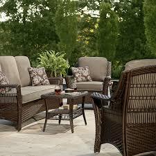 la z boy scarlett 4 piece seating set grey outdoor living patio inside