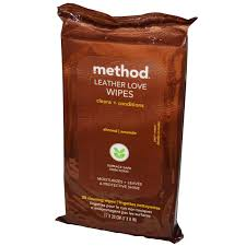 method leather love wipes almond 30 cleaning wipes 7 x 8 in 17 x 20 cm iherb com